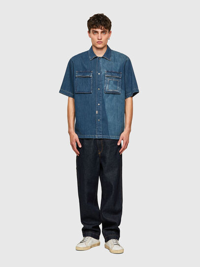 Diesel - D-GUNN-SP, Medium blue - Denim Shirts - Image 5
