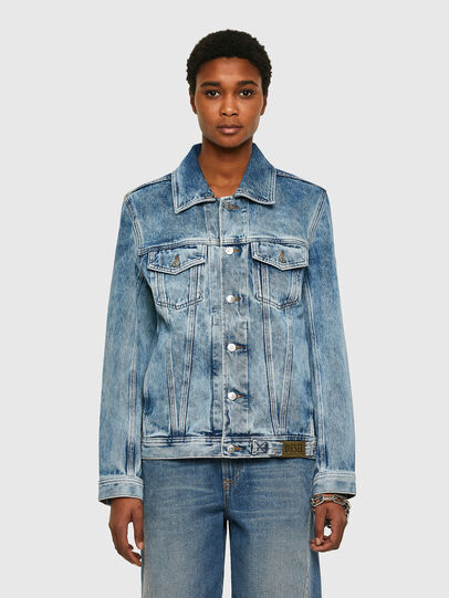 Diesel - NHILL-C1, Light Blue - Denim Jackets - Image 2