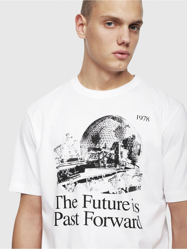 Diesel - T-JUST-YM, White - T-Shirts - Image 3