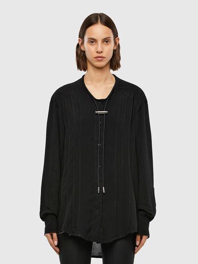 Diesel - C-RETHA, Black - Shirts - Image 1