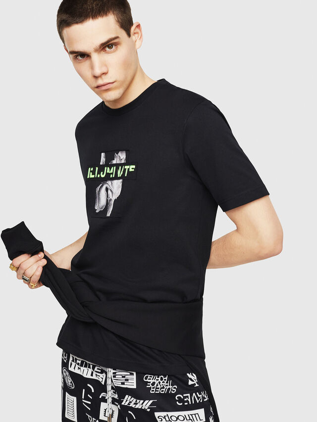 Diesel - T-JUST-Y23, Black - T-Shirts - Image 1