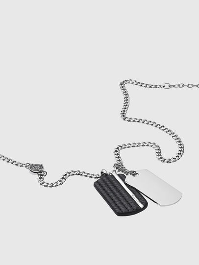 Diesel - DX1040, Silver - Necklaces - Image 2