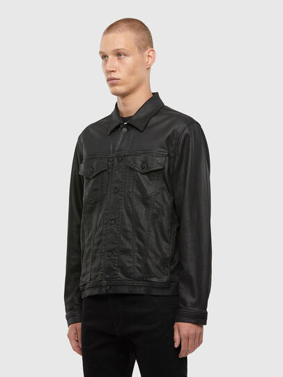 Diesel - NHILL-TW, Black - Denim Jackets - Image 4