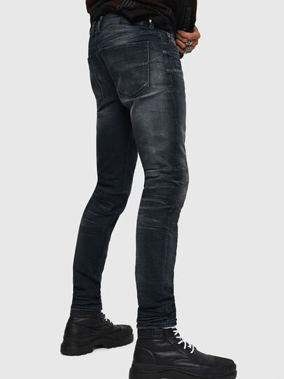 Diesel - Sleenker 0870J, Black/Dark grey - Jeans - Image 5