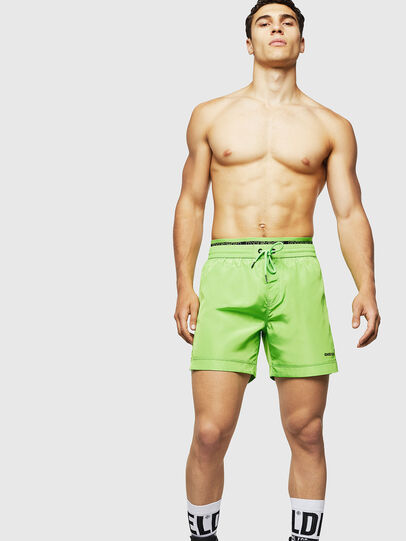 Diesel - BMBX-DOLPHIN, Green Fluo - Swim shorts - Image 4