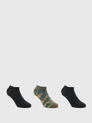 SKM-GOST-THREEPACK, Green/Black - Socks