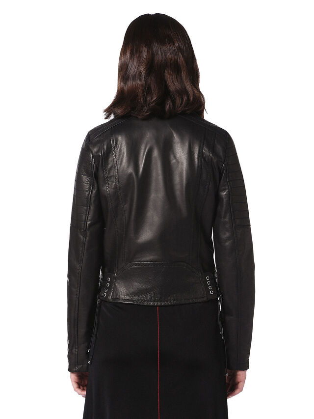Diesel - LINEW, Black - Leather jackets - Image 2