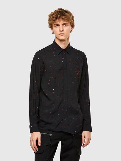 Diesel - S-ADAMES, Black - Shirts - Image 1