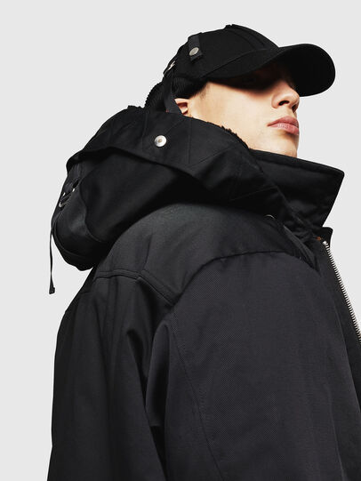Diesel - W-PELSTIC, Black - Winter Jackets - Image 4