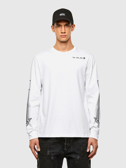 Diesel - T-JUST-LS-A8, White - T-Shirts - Image 1