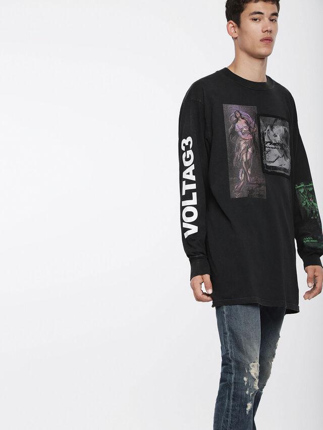 Diesel T-LUCAS-LS-XF, Black - T-Shirts - Image 1