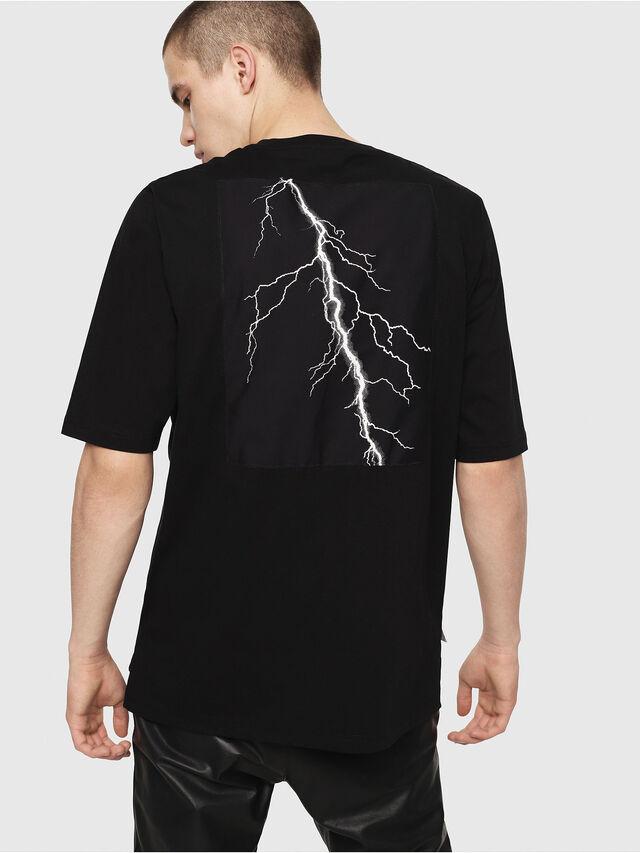 Diesel - T-YOSHIMI, Black/Yellow - T-Shirts - Image 2
