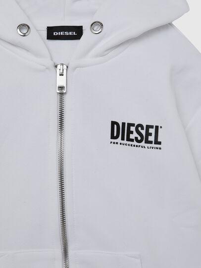 Diesel - SGIRKHOODZIP-LOGO OV, White - Sweaters - Image 3