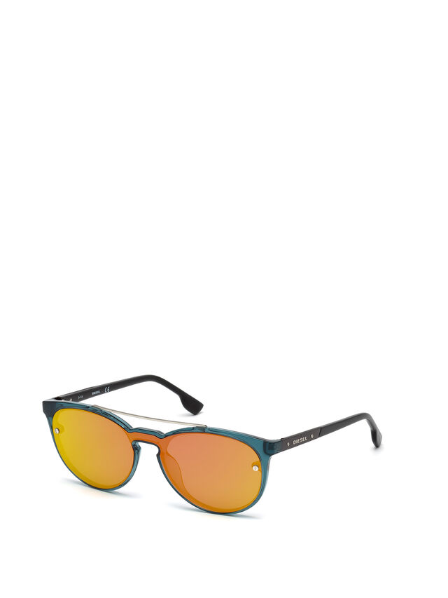 Diesel - DL0216, Blue/Orange - Sunglasses - Image 4