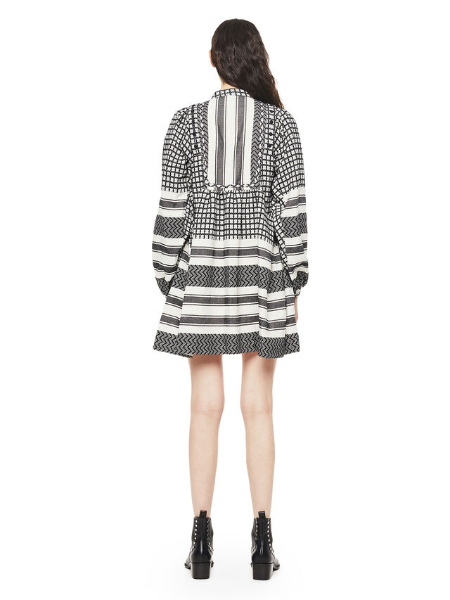 Diesel - DELORES, Black/White - Dresses - Image 2