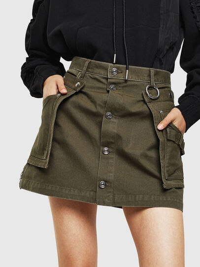 Diesel - O-LADEL, Military Green - Skirts - Image 1