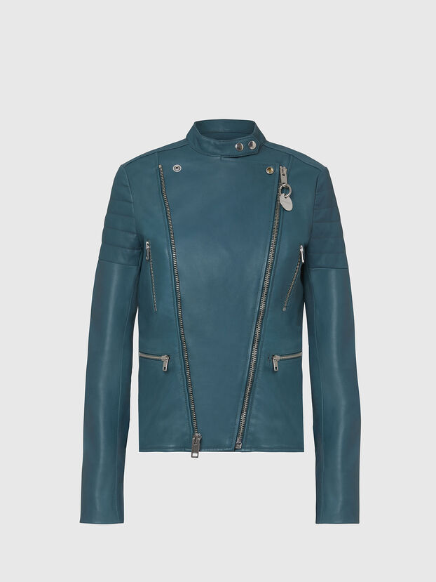 L-MARS, Water Green - Leather jackets