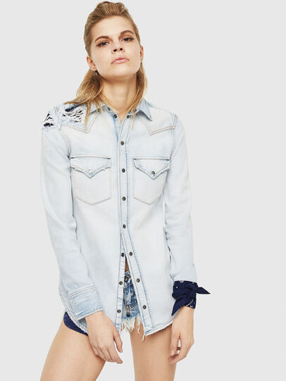 Diesel - DE-BANDY,  - Denim Shirts - Image 1