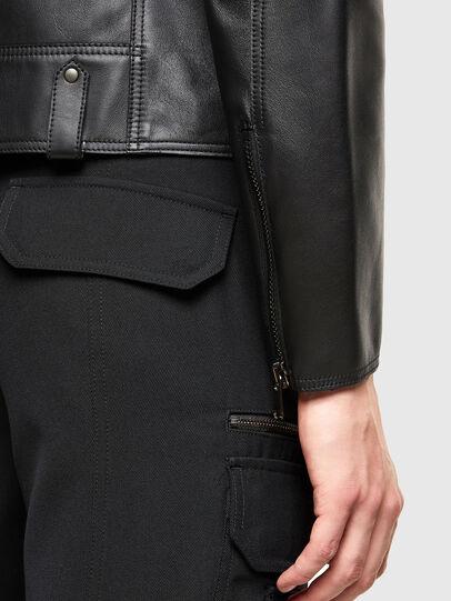 Diesel - L-LIAM, Black - Leather jackets - Image 5