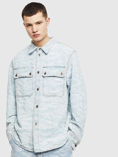 Diesel - D-JESSY, Light Blue - Denim Shirts - Image 1