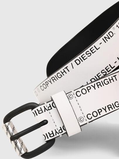 Diesel - B-FULCOPY, White/Black - Belts - Image 2