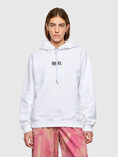 Diesel - F-ANG-HOOD-SMALLOGO, White - Sweaters - Image 1