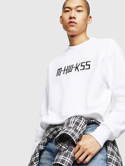 Diesel - S-LINK-MOHAWK, White - Sweaters - Image 4
