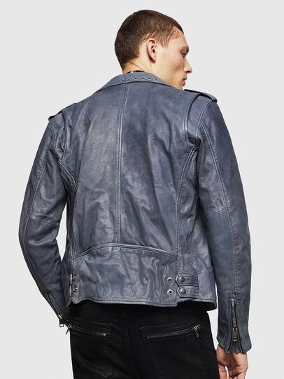 Diesel - L-KIOV, Blue - Leather jackets - Image 2