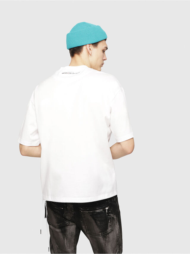 Diesel - T-PLAZA-A, White - T-Shirts - Image 2