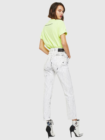 Diesel - T-JUST-SLITS-FLUO, Yellow Fluo - T-Shirts - Image 6