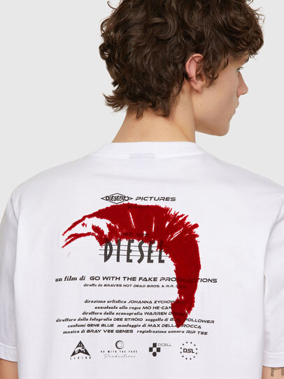 Diesel - T-JUST-E4, White - T-Shirts - Image 3