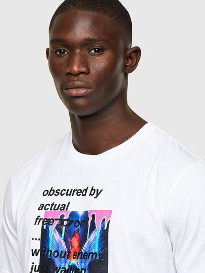 Diesel - T-JUST-A43, White - T-Shirts - Image 3