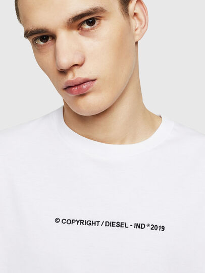 Diesel - T-JUST-COPY, White - T-Shirts - Image 3