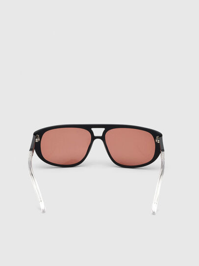 Diesel - DL0300, Black/White - Sunglasses - Image 4