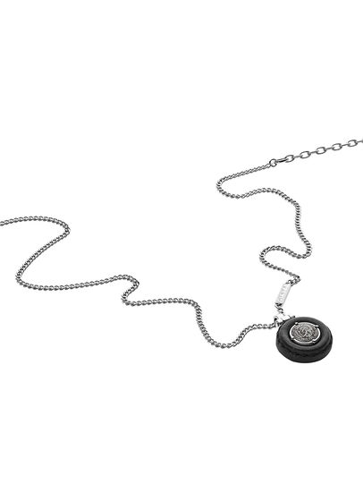 Diesel - NECKLACE DX1022, Silver - Necklaces - Image 2