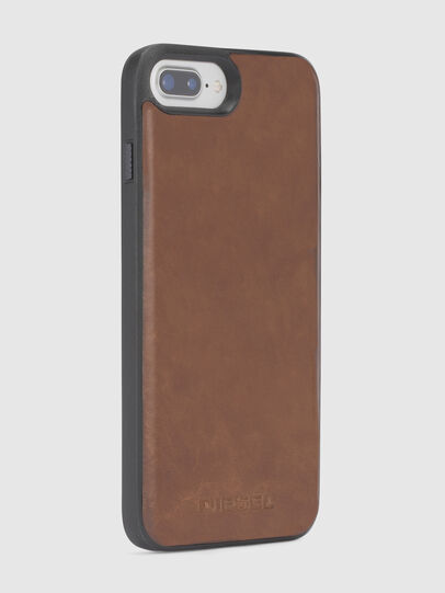 Diesel - BROWN LEATHER IPHONE 8 PLUS/7 PLUS/6s PLUS/6 PLUS CASE,  - Cases - Image 4