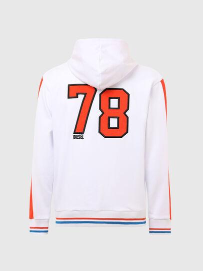 Diesel - UMLT-BRANDON-Z-SP, White/Orange - Sweaters - Image 2