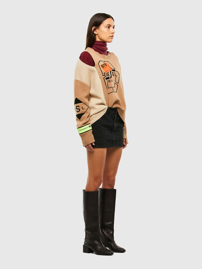 Diesel - M-ALYCIA, Beige - Knitwear - Image 7