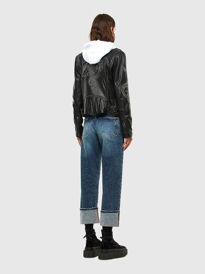 Diesel - L-DIANE, Black - Leather jackets - Image 8