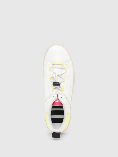 Diesel - S-CLEVER SO C, White/Yellow - Sneakers - Image 5