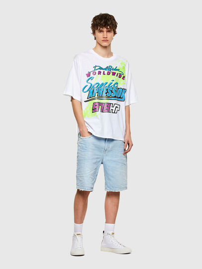 Diesel - T-DELPHONE, White - T-Shirts - Image 4