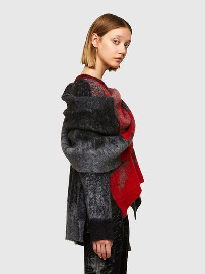 Diesel - M-BRONJA, Black/Red - Knitwear - Image 5