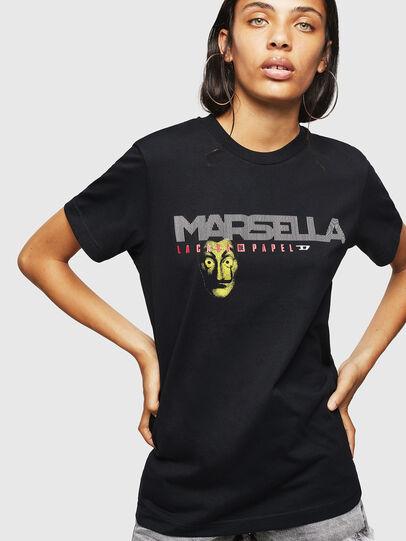 Diesel - LCP-T-DIEGO-MARSELLA, Black - T-Shirts - Image 2