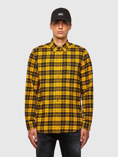 Diesel - S-MOI-CHK, Black/Yellow - Shirts - Image 1