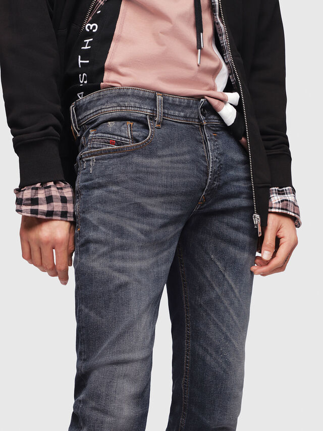 Diesel - Sleenker 069DG, Dark Blue - Jeans - Image 3