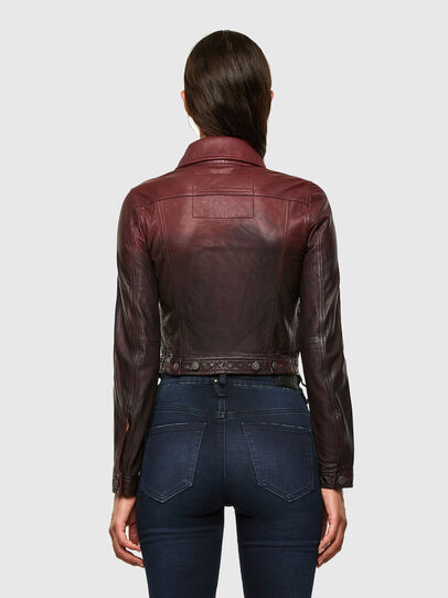 Diesel - L-SHAE, Dark Violet - Leather jackets - Image 2
