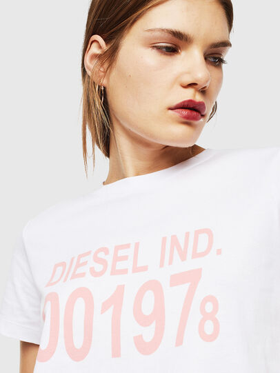 Diesel - T-SILY-001978, White - T-Shirts - Image 3