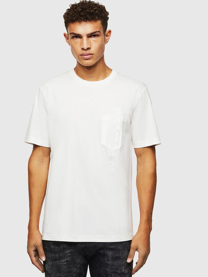 Diesel - T-JUST-POCKET-J1, White - T-Shirts - Image 1