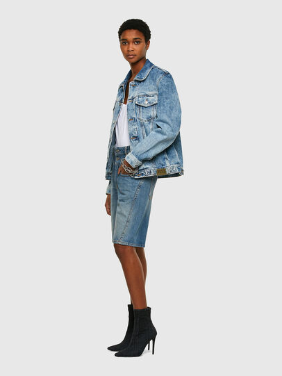 Diesel - NHILL-C1, Light Blue - Denim Jackets - Image 8