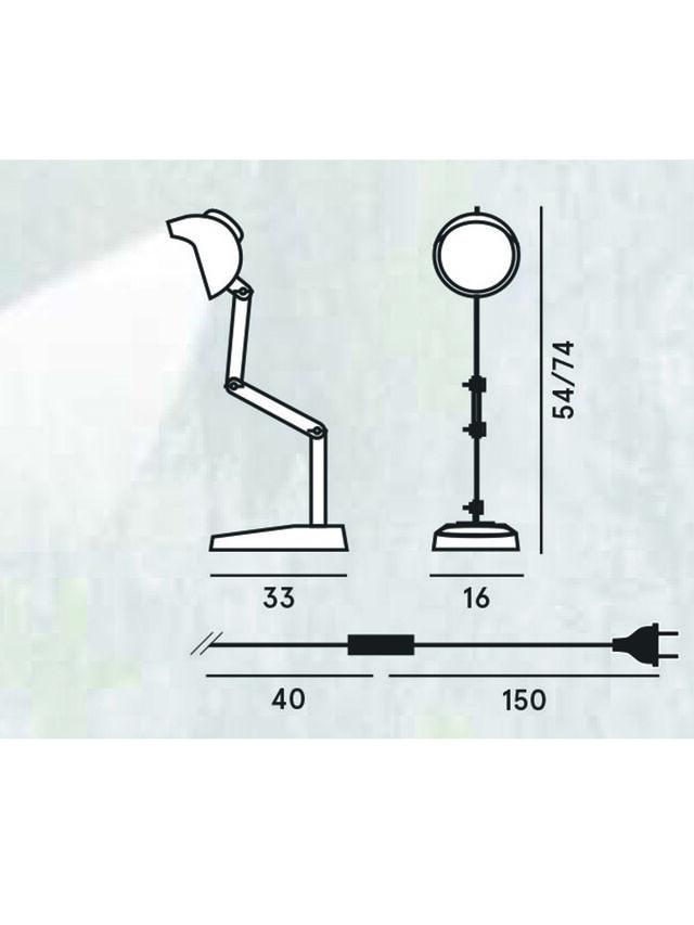 Diesel - DUII TAVOLO, Green/Grey - Table Lighting - Image 2